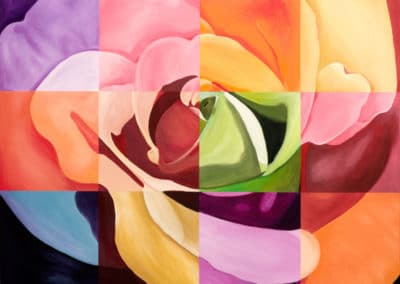 giclee print rose painting