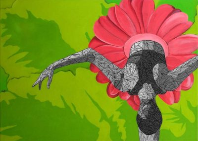 Large Original Art Ballerina