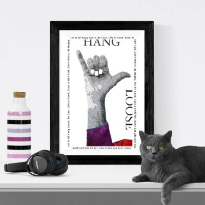 Paper Art Print of Hang Loose by Susan Clifton