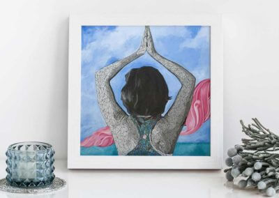 yoga wall art - Yoga inspired art