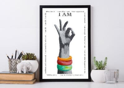 Susan Clifton - A am OK Art Print
