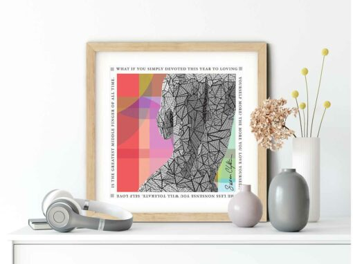 Paper art Print of Loving Yourself by Susan Clifton