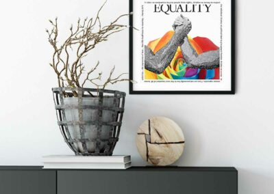 Paper Art Print of Equality by Susan Clifton