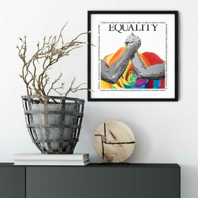 Paper Art Print by Susan Clifton - Equality