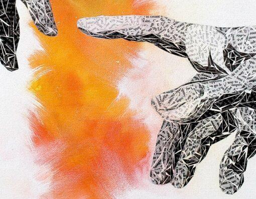 Paper Art Print by Susan Clifton - Create - Detail 2