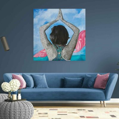 yoga inspired painting by susan clifton