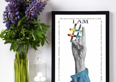 Paper Art Print of I Am Number One by Susan Clifton