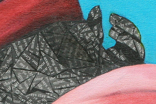 Grief art print by Susan Clifton Detail