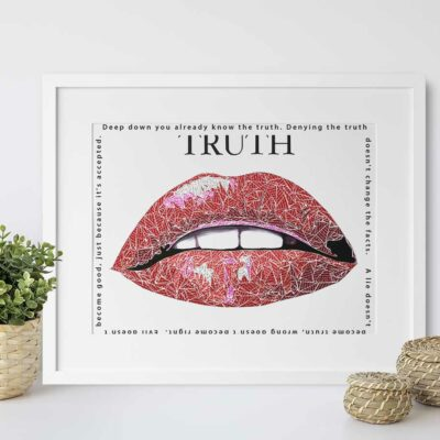 Paper Art Print of Truth