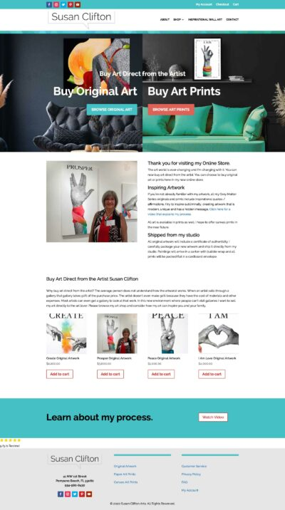 Susan Clifton Home page