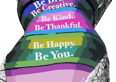 Paper Art Print of Be You by Susan Clifton