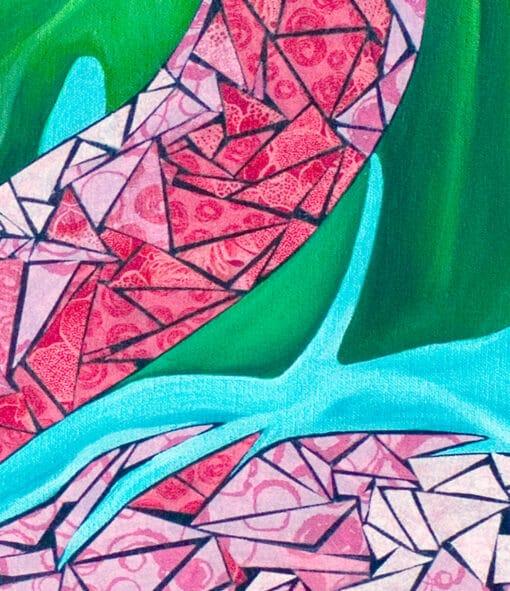 Paper Art Print of Flamingo