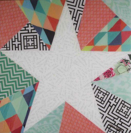 Art Star Paper Collage Art