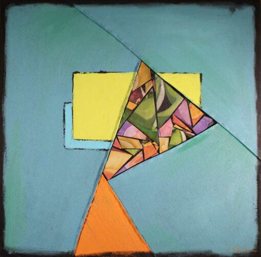 Teal Color Block Art