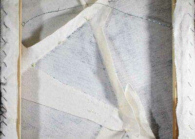 Teal Color Block Art back detail