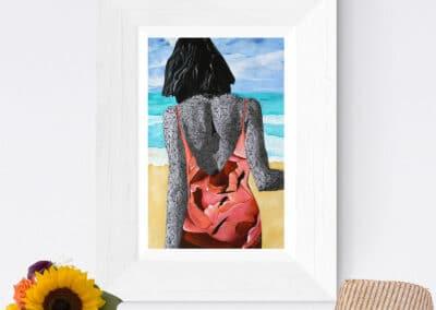 Beach Scene Artwork - Paper Print 11x17 inches
