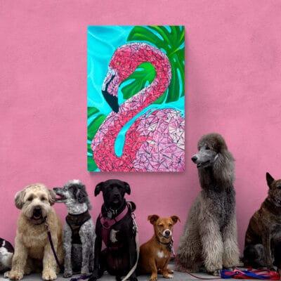 Flamingo Art Print 24x36