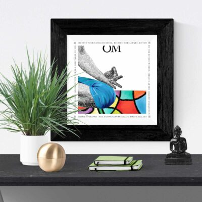 OM painting - Mediation Painting - Art Print