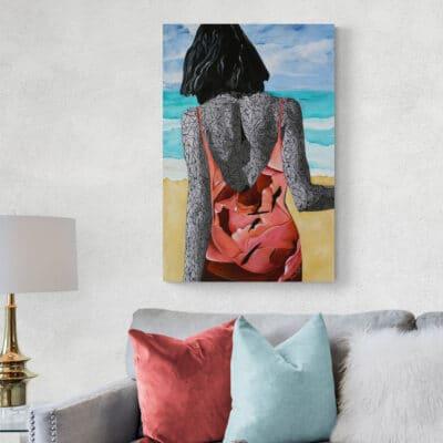 Beach Canvas Print 24x36 inches