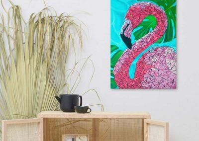 Flamingo Canvas Print 24x36