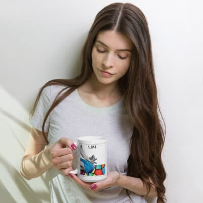 15oz. Meditation mug | Art by Susan Clifton