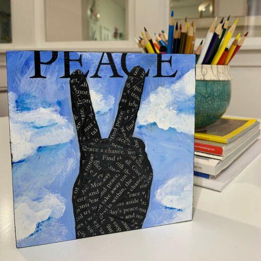 Peace Hand Symbol Artwork