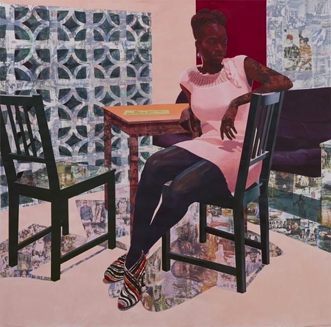 mixed media collage artists | Njideka Akunyili Crosby