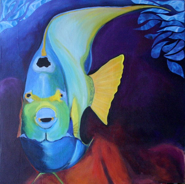 Angel Fish Painting: artist Susan Clifton