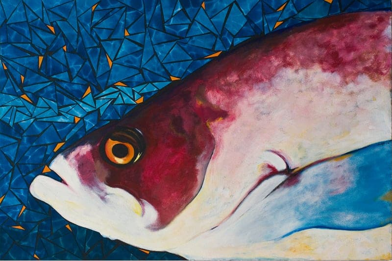 Fish Painting: artist Susan Clifton