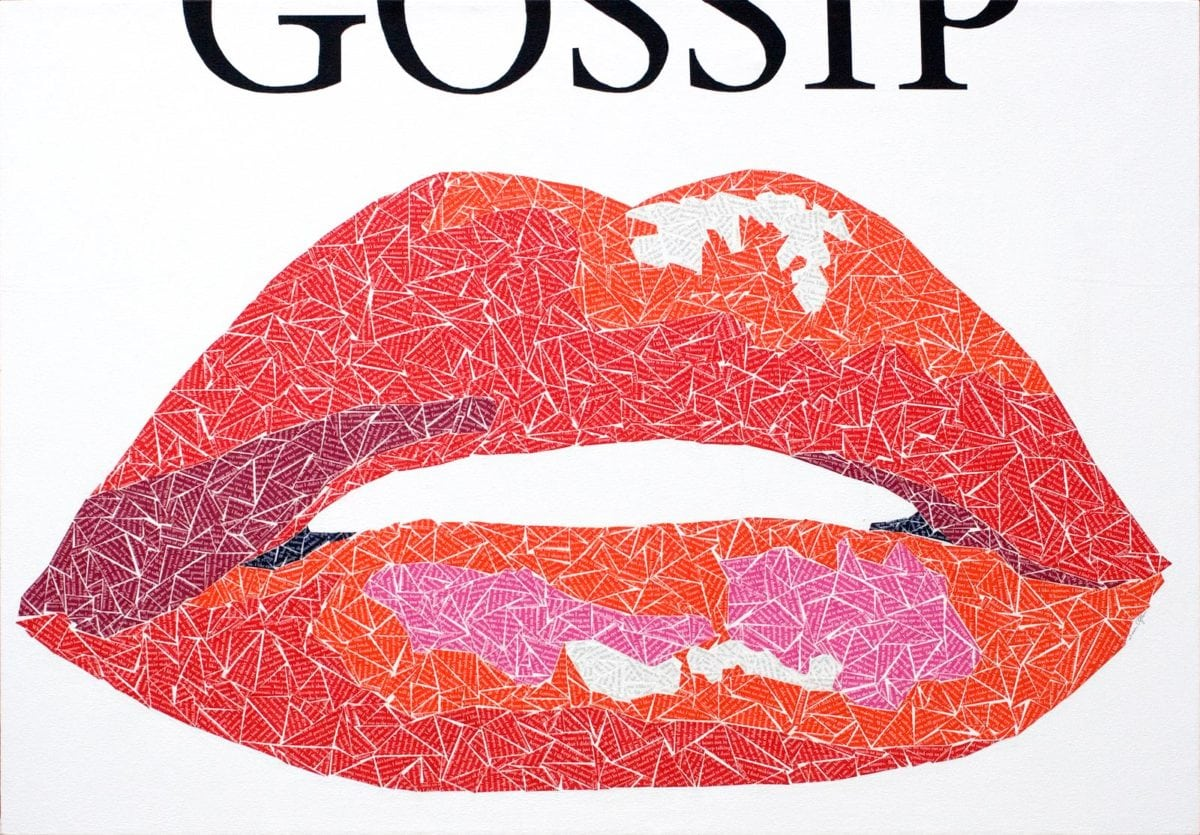 Gossip painting by Susan Clifton