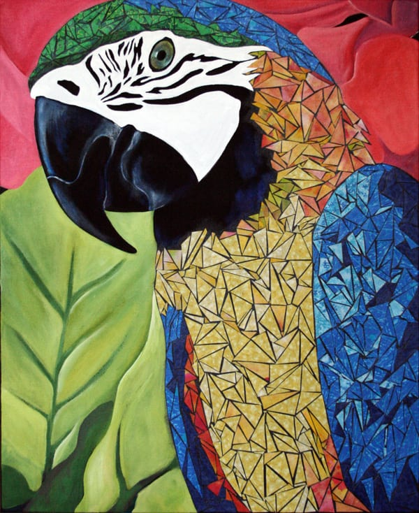 macaw painting: artist Susan Clifton