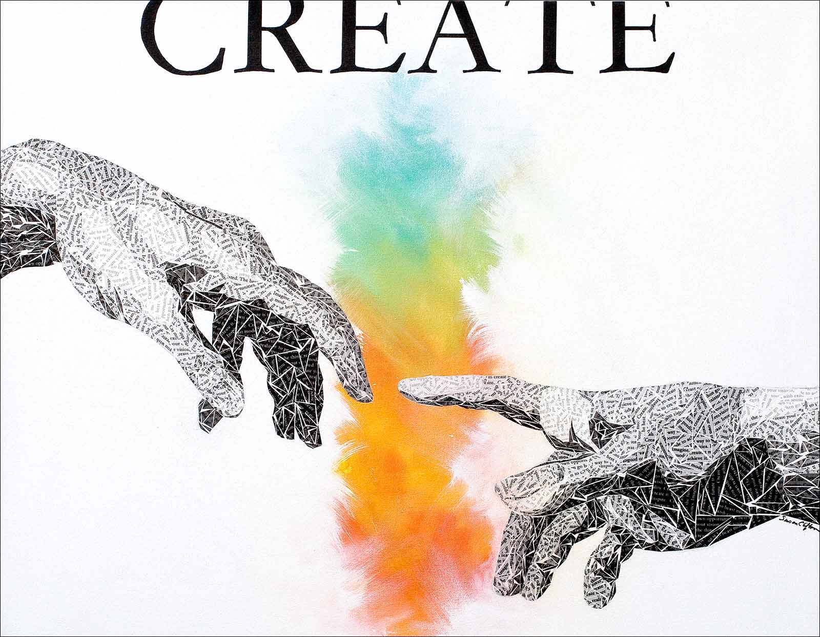 creation of adam by artist Susan Clifton