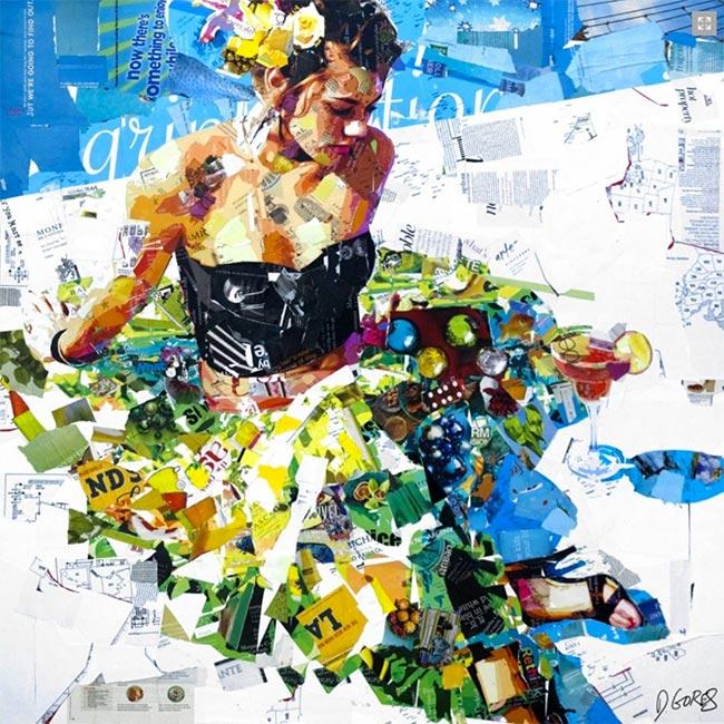 mixed media collage artists | Derek Gores