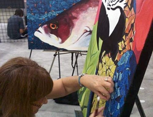 A live painting event Labor Day Weekend