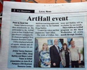 Art Aquatic in the Observer
