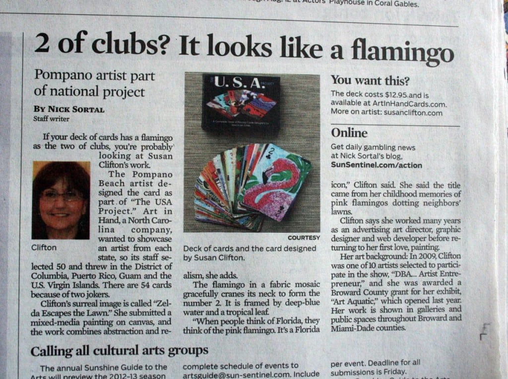 Susan Clifton in the Sun Sentinel