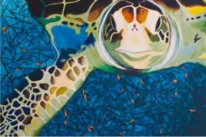 sea turtle painting - contemporary art painting